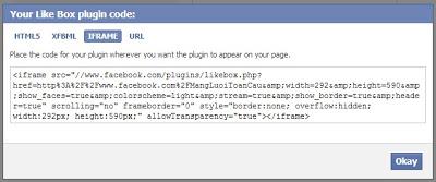 code fanpage để cho vào web của bạn