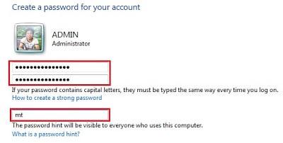 Gõ mật khẩu vào