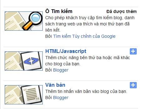 Thêm chức năng của bên thứ ba cho blogspot