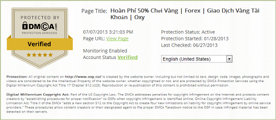 Mua gói bảo vệ cao cấp của DMCA.com