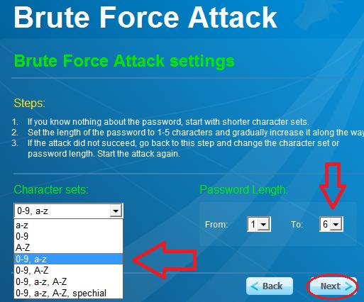 Dò tất cả khả năng có thể của mật khẩu
