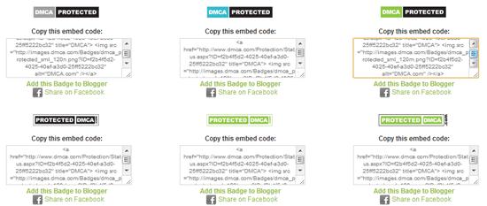 Lựa chọn logo DMCA mà bạn thích