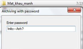 Đặt mật khẩu mạnh cho thư mục này
