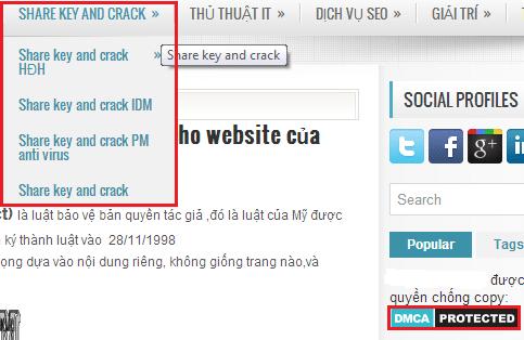 Tự mẫu thuẫn về DMCA