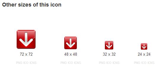 Các kích cỡ khác của icon