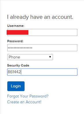 Đăng nhập yêu cầu phải có Security Code