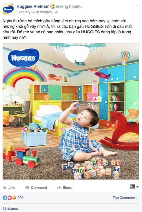 huggies-facebook-vietnam