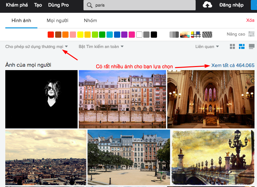 Flickr cung cấp rất nhiều ảnh
