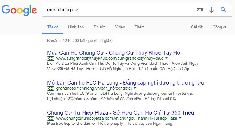 quảng cáo trên Google