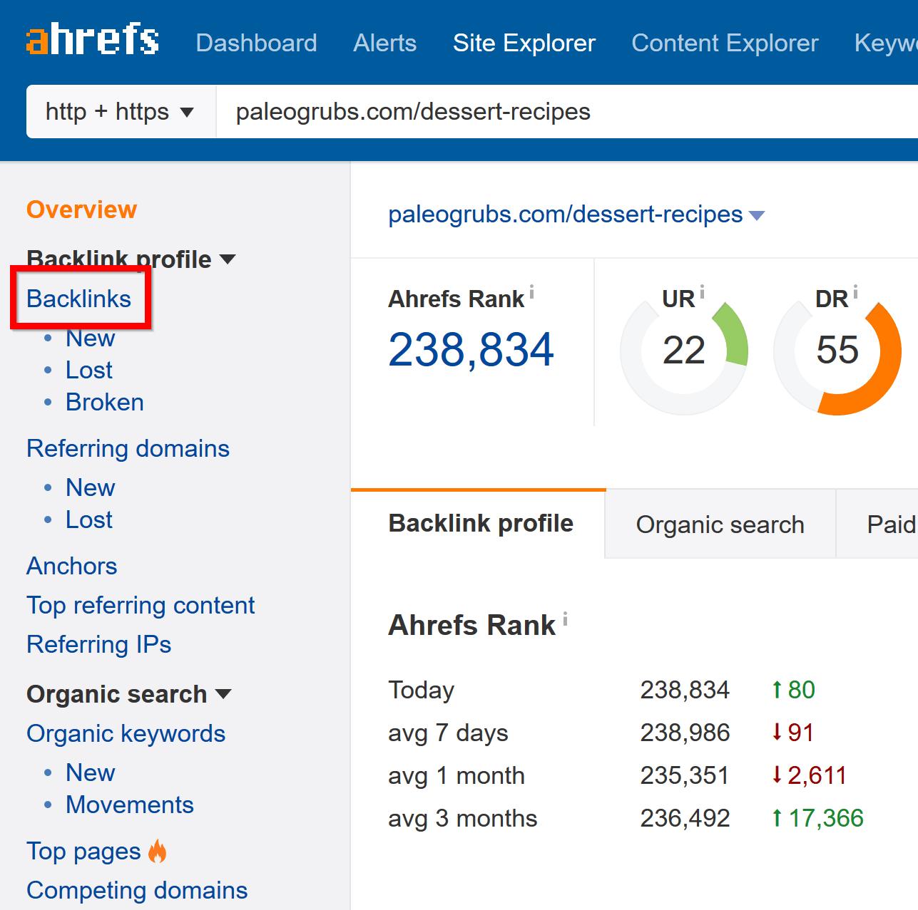 tìm backlink của bài viết đứng đầu