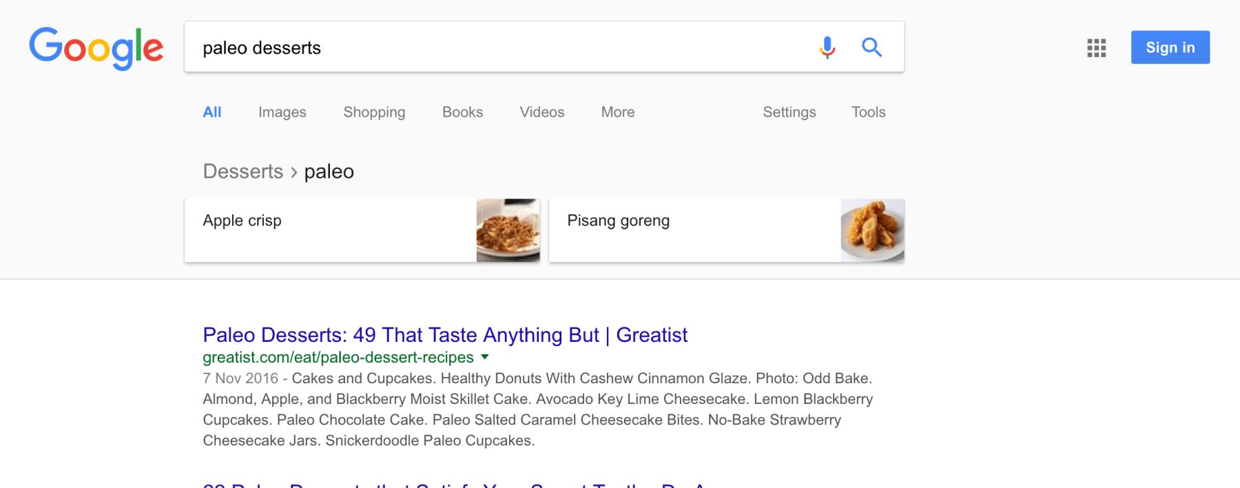 tìm kiếm từ khóa bạn nhắm đến trên Google