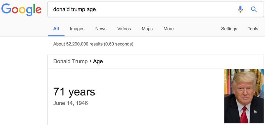 tuổi của donald trump