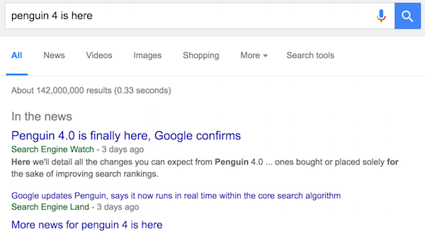 Google News Search Engine Watch