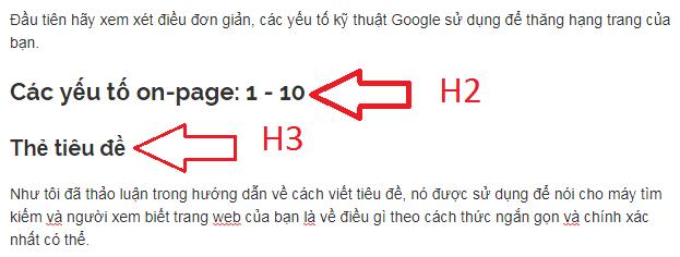 thẻ h2 và thẻ h3