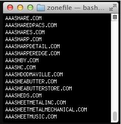 zone file tất cả tên miền đã đăng ký