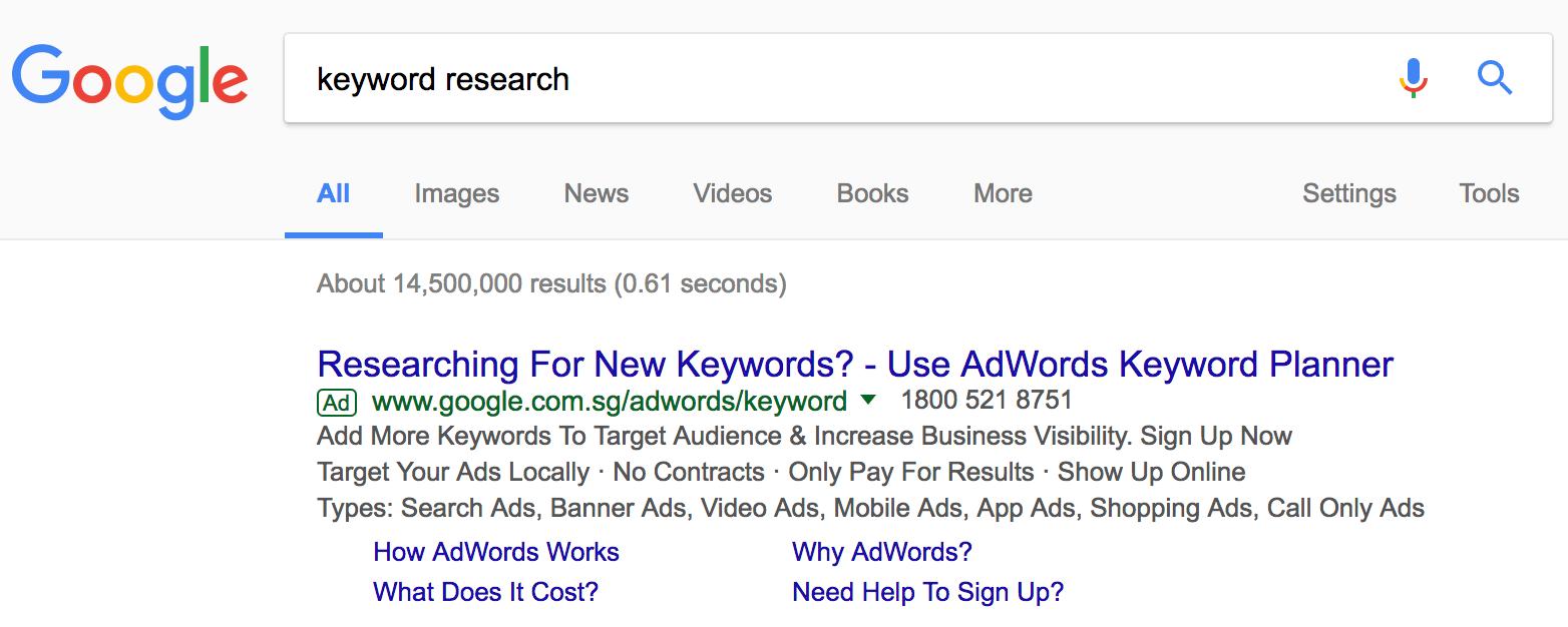 Google quảng cáo sản phẩm của họ