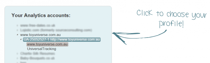 chọn website muốn kiểm tra