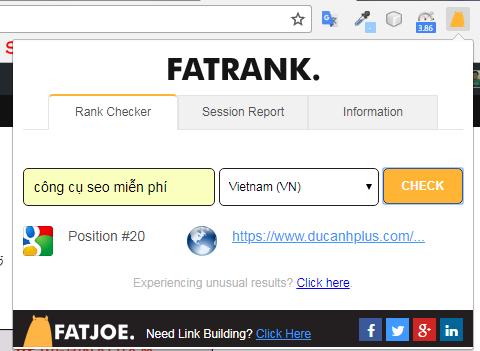faatrank - kiểm tra nhanh thứ hạng từ khóa