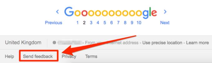 phản hồi cho Google