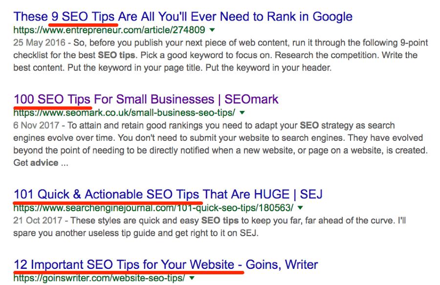 SEO tips - bài viết dạng danh sách