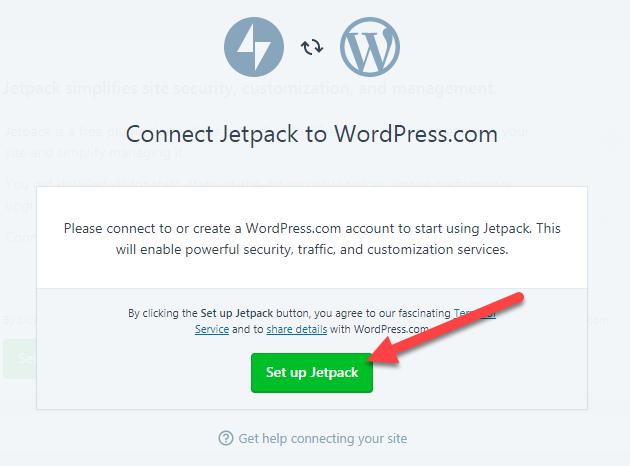 kết nối với tài khoản trên WordPress.Com