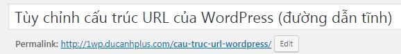 cấu trúc URL ngắn gọn tối đa