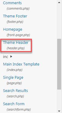 file header.php