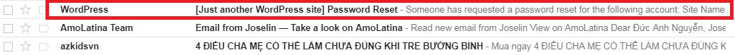 email khôi phục mật khẩu