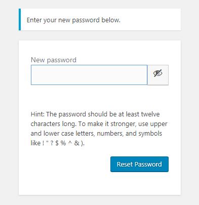 chọn mật khẩu mới