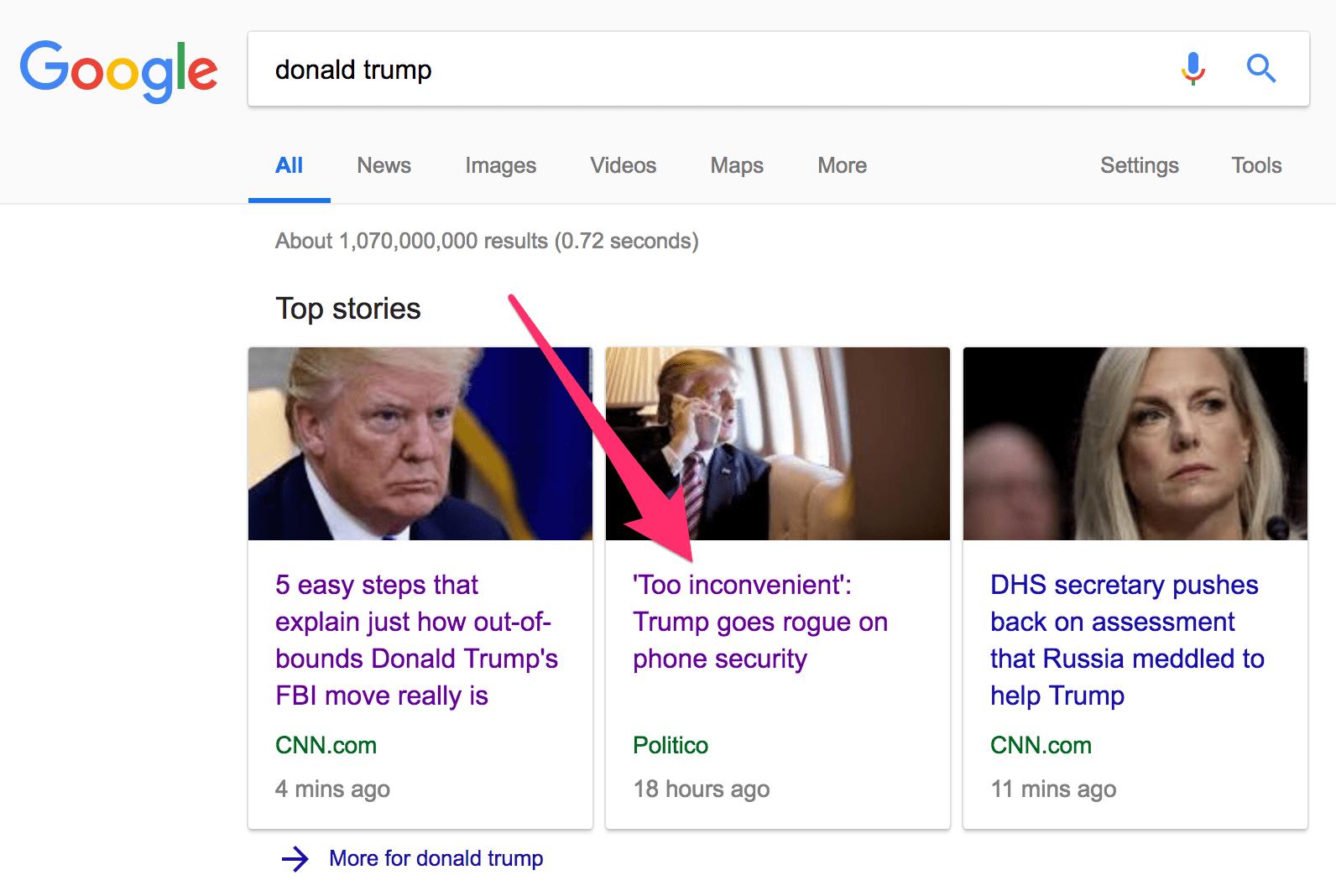 trang tin tức nằm trong tin bài hàng đầu