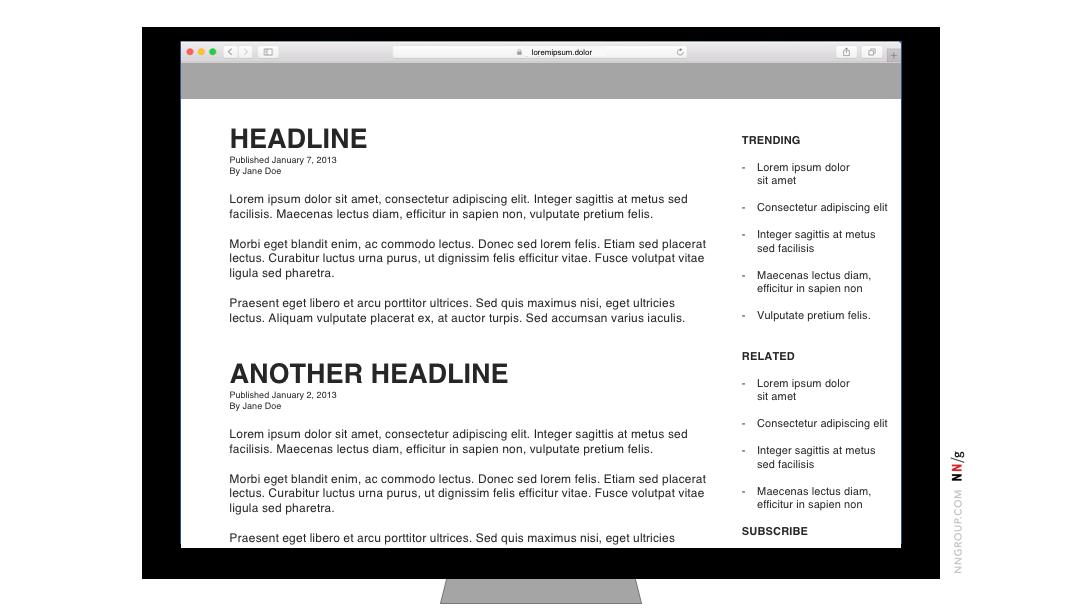 Quảng cáo intracontent sắp xếp lại nội dung trên máy bàn 1
