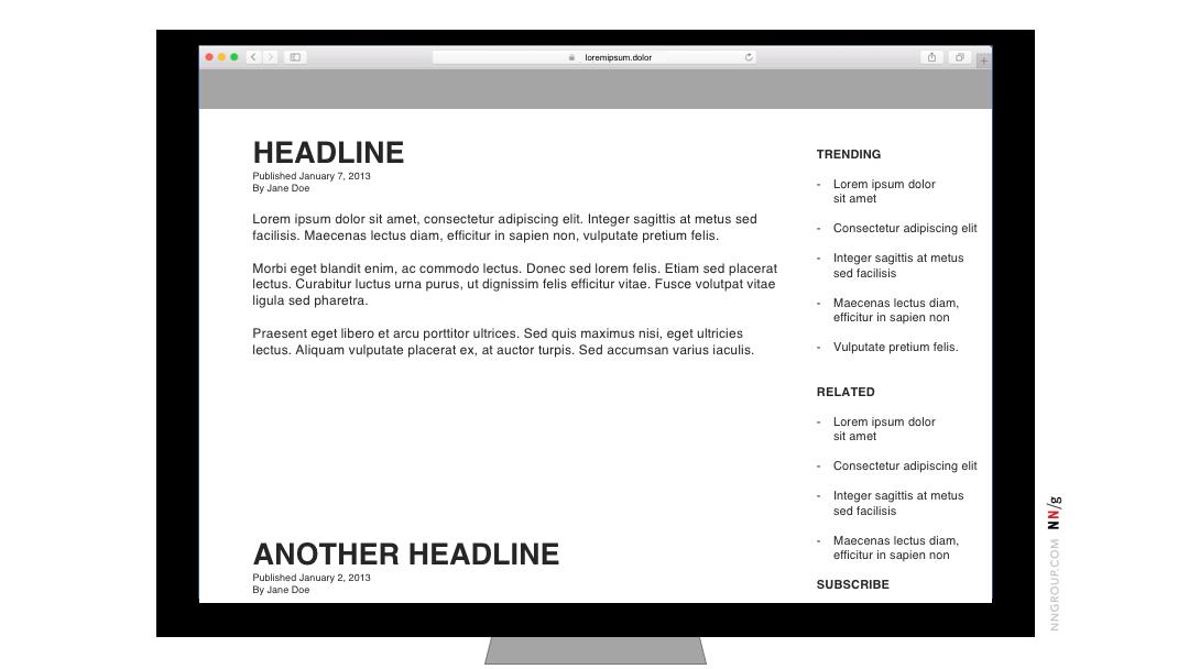 Quảng cáo intracontent sắp xếp lại nội dung trên máy bàn 2