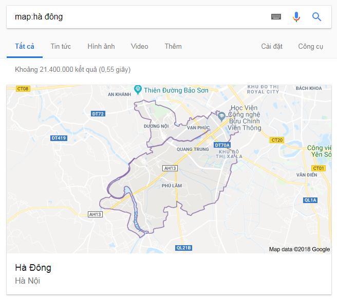 bản đồ hà đông google
