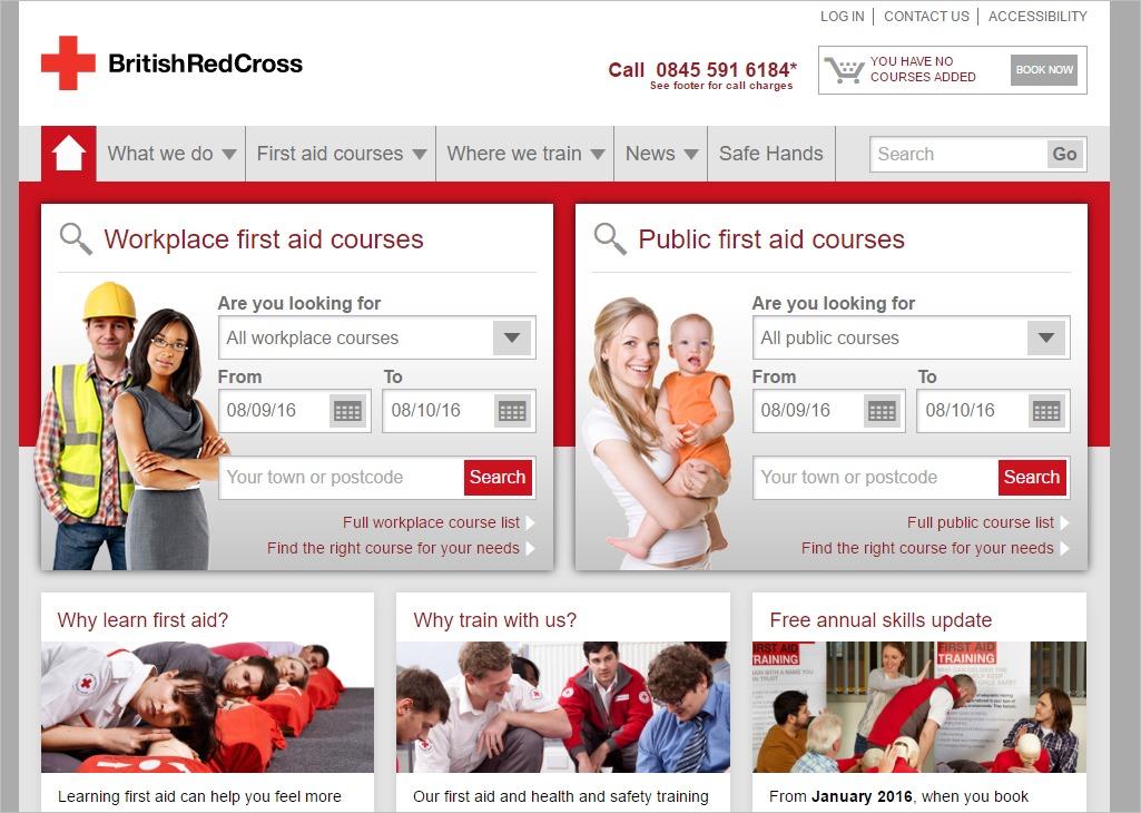 trang con của hội chữ thập đỏ Anh Quốc