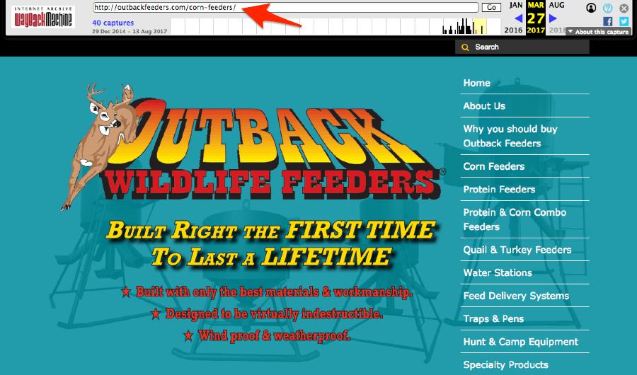 trang web trước khi bị hack