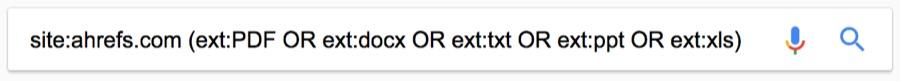 hỗ trợ tìm kiếm nhiều định dạng file