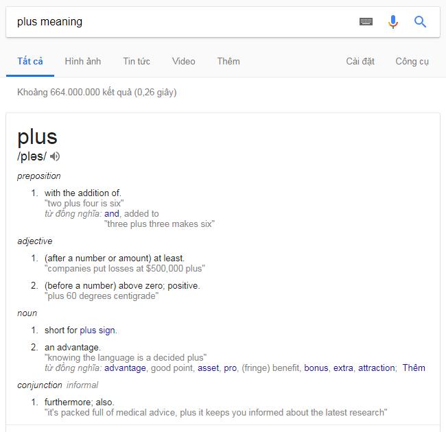 nghĩa của từ plus