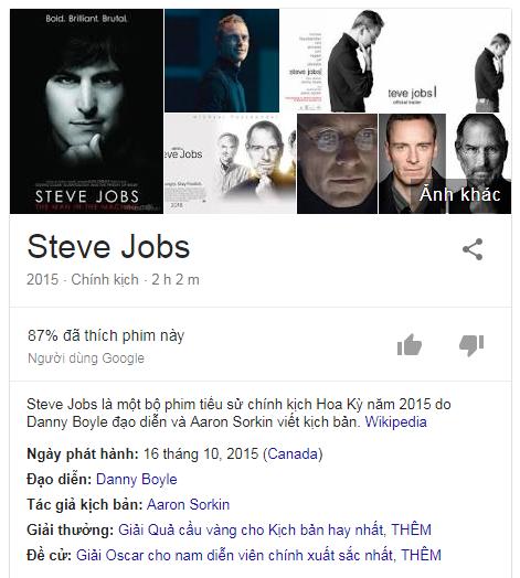 tìm kiếm phim trên Google