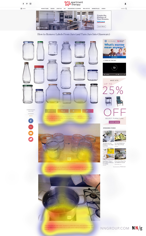 người dùng bỏ qua nội dung hay được trình bày ở phần quảng cáo