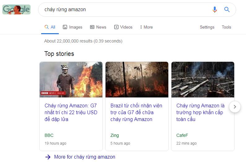từ khóa cháy rừng amazon kích hoạt hộp câu chuyện hàng đầu