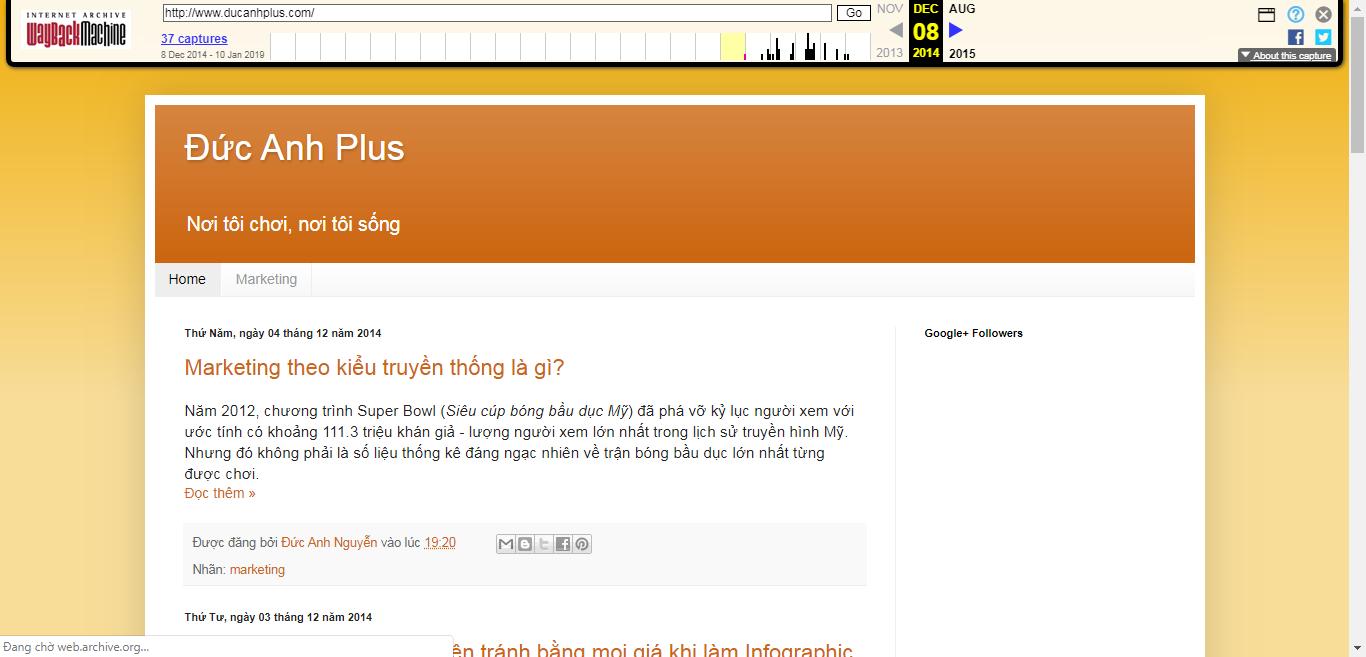 kiểm tra giao diện cũ của website Kiến càng