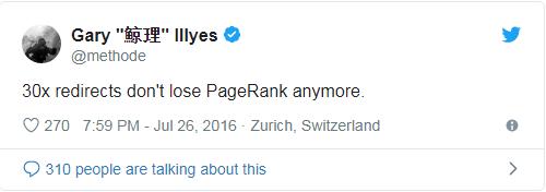 301 không còn làm mất PageRank nữa
