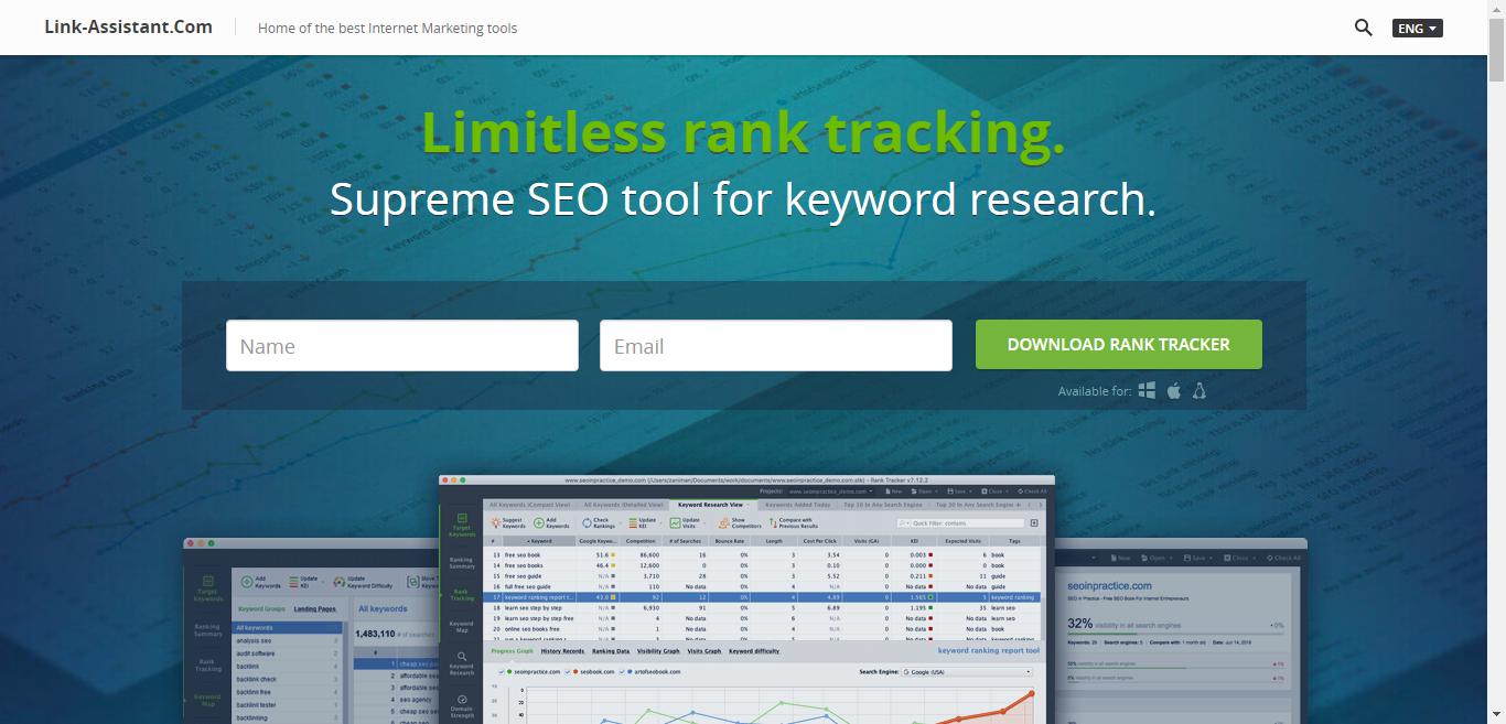 Rank tracker, công cụ theo dõi thứ hạng của link-assistant