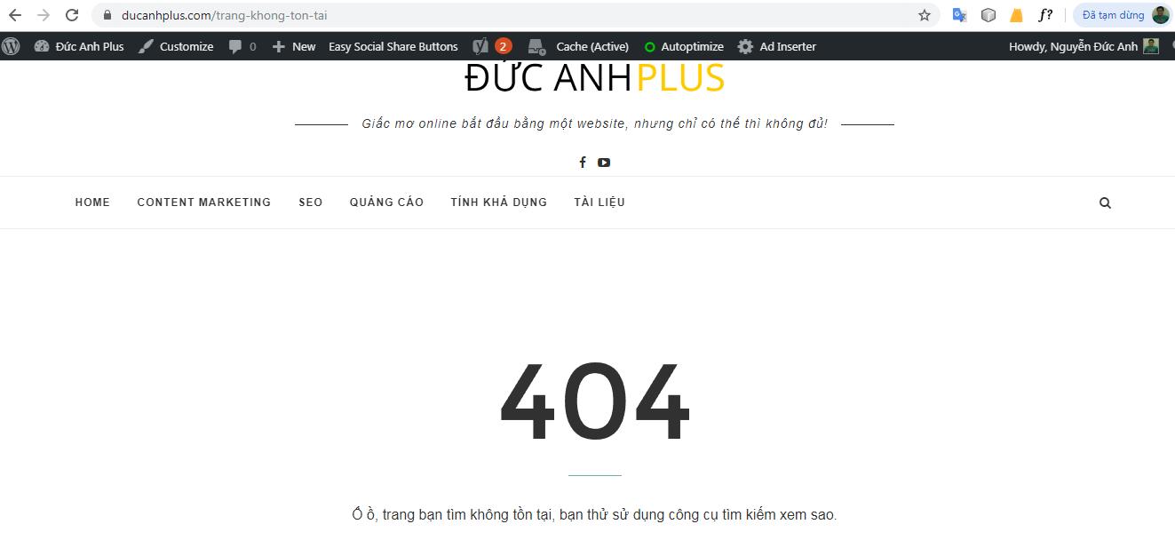 trang không tồn tại (lỗi 404)