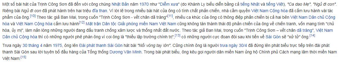 Trịnh Công Sơn, Wikipedia tiếng Việt