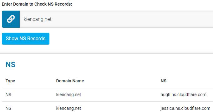 kiểm tra DNS server