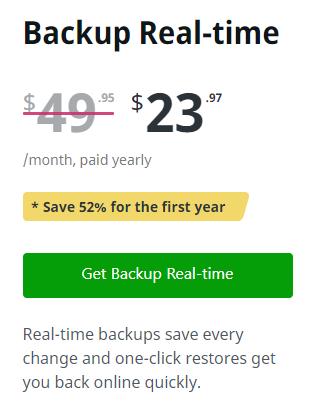 Backup real-time của Jetpack